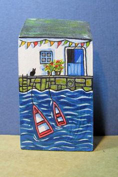 Waters Edge Cottage by jamjarart on Etsy by Joy Williams.