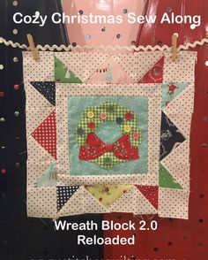 Cozy Christmas Wreath Block Sew Along Lori Holt Bee In My Bonnet Riley Blake