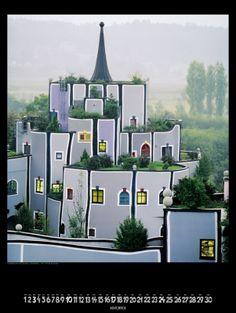 Grosser Hundertwasser Architekturkalender 2013 - Hundertwasser Bilder, Kunstdrucke und Kalender