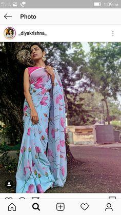 Simple Blouse Designs, Saree Blouse Designs, Indian Designer Outfits, Designer Dresses, Simple Sarees, Saree Photoshoot, Saree Trends, Kurti Designs Party Wear, Stylish Sarees