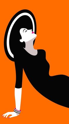 Graphic Design Inspiration: 30 Hot and Expressive Summer Illustrations Art Deco Illustration, Graphic Illustration, Graphic Art, Simple Illustration, Graphic Design, Portrait Illustration, Arte Pop, Pop Art Drawing, Art Drawings