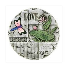 Amazon.com: Love Dragonfly Lilly Bloom Flower Garden Stepping Stone: Home & Kitchen