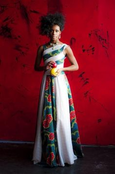 Awesome African Traditional Wedding Dress Colour Culture --- Beautiful mix of traditional and modern AnKara. African Inspired Fashion, African Print Fashion, Africa Fashion, Fashion Prints, Fashion Design, African Prints, Fashion Styles, African Attire, African Wear