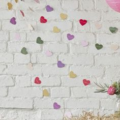 Boho Themed Colourful Heart Backdrop Bunting Garland by Ginger Ray, the perfect gift for Explore more unique gifts in our curated marketplace. Wedding Bunting, Party Bunting, Bunting Garland, Boho Wedding, Wedding Decorations, Party Wedding, Garlands, Summer Wedding, Happy Birthday Bunting