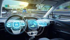 empty cockpit of autonomous car hud(head up display) and digital speedometer. self-driving vehicle. Automatic Cars, Car Gadgets, Self Driving, China, Car Mirror, Future Car, Car Audio, Car Car, Technology