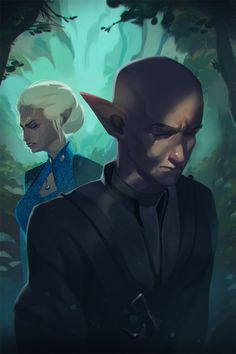 The infamous breakup of Solas and Lavellan. WILL NEVER BE OVER IT.