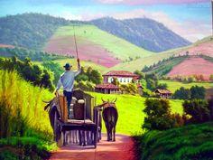 Panoramios de fazendas inspiram tranquilidade e qualidade de vida, por isso em uma época, era comum ter pinturas que representassem a beleza...