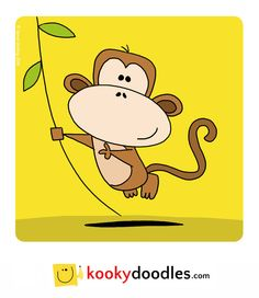 Learn how to draw this cartoon monkey at http://kookydoodles.com or http://stevedarling.net/how-to-draw-a-monkey/
