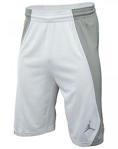 c3a81a7c076c Nike Jordan Jumpman Game Mens 688535-100 White Grey Basketball Shorts Size  M I Shop