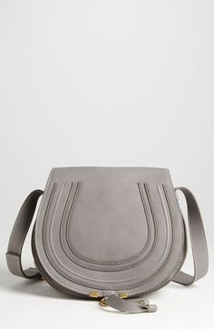 Free shipping and returns on Chloé 'Medium Marcie' Leather Crossbody Bag at Nordstrom.com. Curvaceous detailing ornaments the saddle-shaped flap of a cool grey crossbody crafted from sumptuous grained leather.