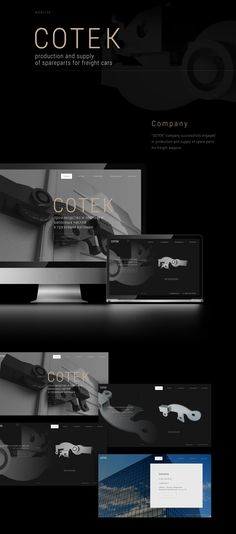 SOTEK web-site on Behance