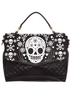 Pushing Daisies Sugar Skull Bag at ShopPlasticland.com