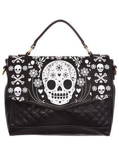 Pushing Daisies Sugar Skull Bag at ShopPlasticland.com