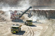 Cat 793 at Gabriela Mistral Mine Chile