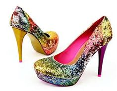 I neeed these! Glitter...bright...rainbow...OMG!