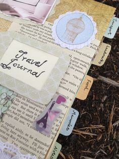 French themed travel journal, $60.00
