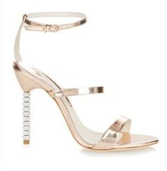 metal leather summer sandals