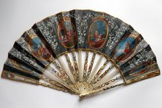 c.1770 La nourrice, éventail de naissance Antique Fans, Vintage Fans, Hand Held Fan, Hand Fans, Chinese Fans, Fan Decoration, 18th Century Fashion, Beautiful Hands, Hamilton