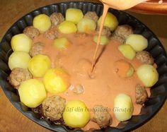 Chiftele cu cartofi la cuptor - Bunătăți din bucătăria Gicuței Cake Recipes, Cheese, Cooking, Food, Kitchen, Easy Cake Recipes, Essen, Meals, Yemek