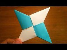 Origami Transforming Ninja Star, Ninja Star Origami, Easy Origami Star, Paper Ninja Stars, Origami Star Paper, Origami Lucky Star, Kids Origami, How To Make Origami, Useful Origami