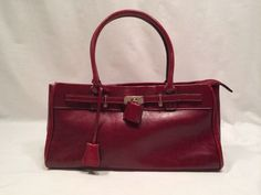 3869e5d538ff Rina Rich Leather Purse Red Handbag Shoulder Bag 7.5