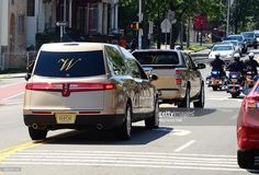 The hearse leaves following a funeral service for Bobbi Kristina Brown at the Fairview Cemetery on August 3, 2015 in Westfield, New Jersey. Bobbi Kristina Brown, daughter of Whitney Houston and Bobby Brown, was reportedly found unconscious in her bathtub on January 31, 2015 and passed away on July 26, 2015 at the age of 22 after an extended hospital stay.