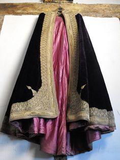 Vintage Victorian Embroidered Mantle Cloak