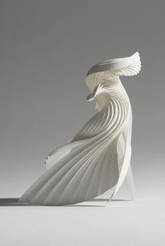 Pleated Paper Sculpture - paper manipulation; paper art // Richard Sweeney