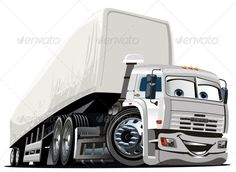 #Vector Cartoon Semi Truck - #Miscellaneous #Characters Download here: https://graphicriver.net/item/vector-cartoon-semi-truck/3702078?ref=alena994