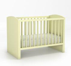 Łóżeczko o wymiarach: 930x760x1426. płaskie szczebelki, 3 poziomy regulacji dna, boki łóżeczka wykonane są z twardego drewna bukowego, natomiast szczebelki ze sklejki bukowej, która jest odporna na wyginanie przy dużej wilgotności powietrza.