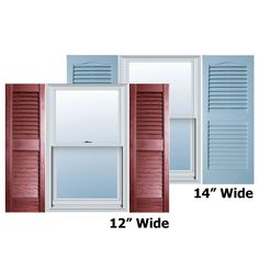 "Builders Choice Vinyl Open Louver Window Shutters, w/Shutter Spikes & Screws ($20.18 Per Pair 14""x25"" any color)"