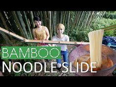 (109) Bamboo noodle slide!!! Summer fun in Japan! (Subtitled!) - YouTube