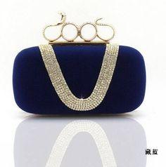 1bcc7aa76cdd Noble Luxury Women Evening Bag  Clutch Handbag Purse Skull Purse