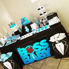 Events N's Birthday / Boss Baby - Boss Baby Nick Jr turns 1 at Catch My Party Baby Birthday Themes, Boys First Birthday Party Ideas, Boss Birthday, Baby Boy 1st Birthday Party, Boy Baby Shower Themes, Baby Party, Shower Baby, Baby Showers, Boss Baby