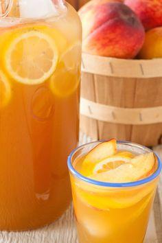 bourbon peach lemonade, via goodfoodstories.com