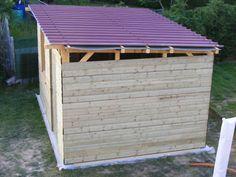 construction de mon abri de jardin - L'atelier de Zep Outdoor Furniture Sets, Outdoor Decor, Shed Plans, Home Projects, Tiny House, Home And Garden, Outdoor Structures, Architecture, Building