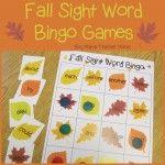 Boy Mama Teacher Mama  Fall Sight Word Bingo Games (featured)