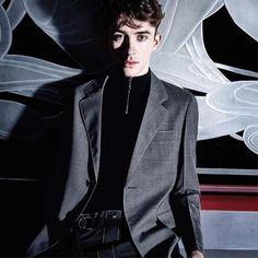 Matthew Beard shot by Craig McDean for the #PradaSS16 Menswear Advertising Campaign.