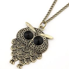 The Crested Owl Necklace from www.JewelryLP.com #owls #necklace #necklaces #owl #trendy #fashion #trendy fashion #gifts #gifts for women #gifts for girls #birthdaygifts