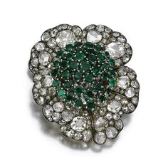 Emerald and diamond ring, Bulgari, 1960s. via U N E A R T H E N