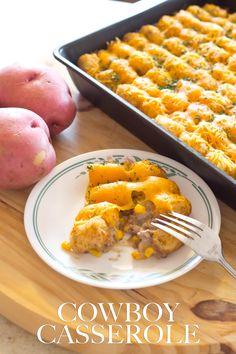 This Cowboy Casserole is a great kid-friendly recipe. My two boys love it! #ScrubDishCloth [ad]