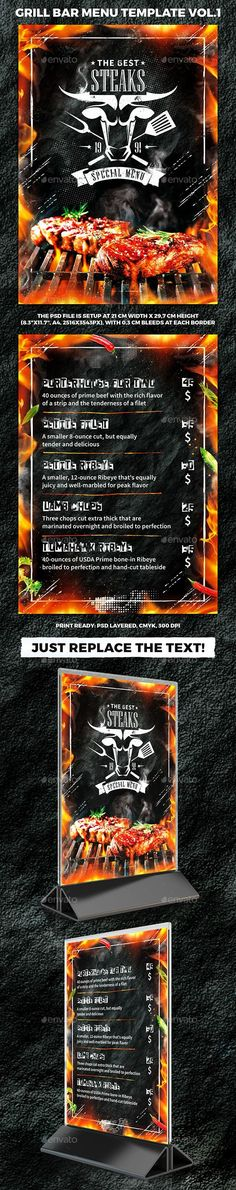 Photoshop Design by funkwood Café Pinterest Photoshop design - bar menu template