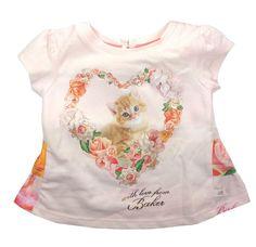 ef7beba3d Ted Baker Baby Girls T Shirt Top Pink Floral Designer Cat 9-12 Months