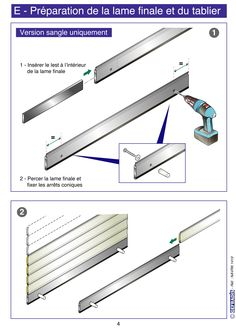 Page 4. Cette notice vous explique comment poser votre volet roulant en kit vous-même.  Prix d'usine sur Gefradis.fr.
