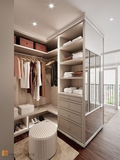 6 Tips to Create a Luxury Walk in Closet Walk In Closet Design, Bedroom Closet Design, Master Bedroom Closet, Home Room Design, Closet Designs, Home Decor Bedroom, House Design, Wardrobe Room, Dressing Room Design