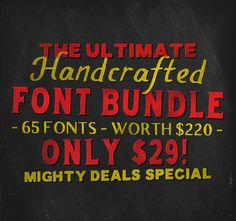65 Handcrafted Fonts + 200 Handcrafted Ornaments - only $29! - MightyDeals