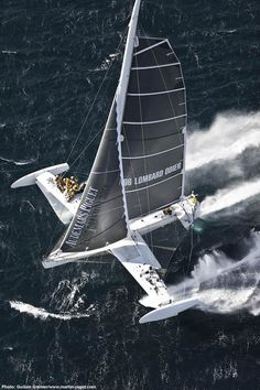 l'Hydroptere holds the world record of fastest sailboat (versus the speed record of a sailboard with sail) at knots avg. over 500 meters as of November Yacht Design, Boat Design, Bateau Yacht, Sail Racing, Honfleur, Le Havre, Yacht Boat, Sail Away, Set Sail