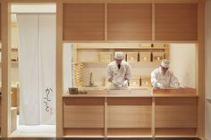 Image 5 of 12 from gallery of Kashikoto Monakaya / Wataru Kumano. Photograph by Sohei Oya Japanese Restaurant Interior, Small Restaurant Design, Japanese Interior, Cafe Interior, Interior Design, Counter Design, Bar Design, Store Design, Japanese Shop