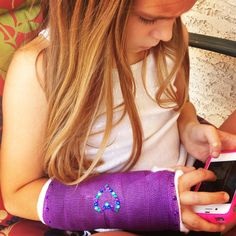 Bling the cast Arm Cast, Boohoo, To My Daughter, Bling, Dance, Purple, Children, Hair Styles, Fun