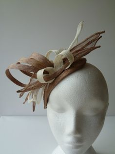 Coffee and Cream swirls and fingers fascinator for by susansteiner, £40.00